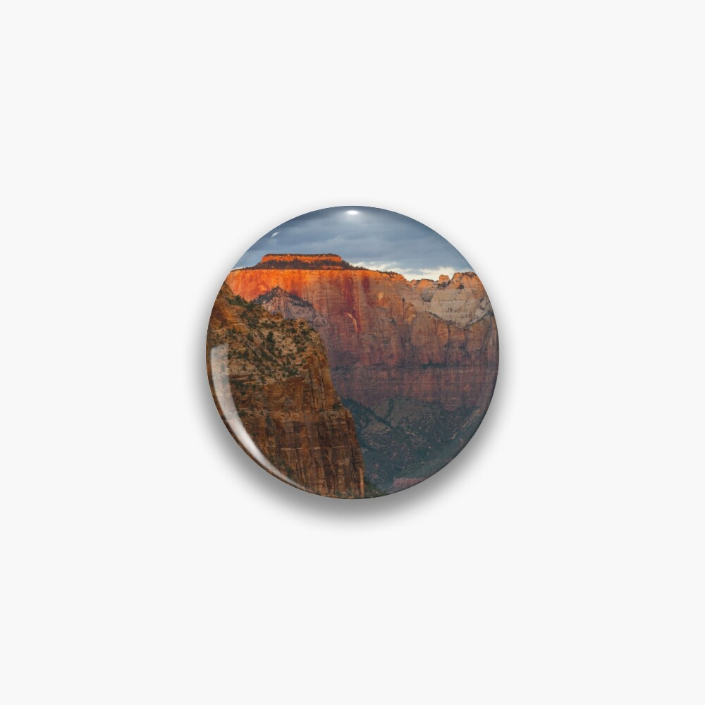 Zion National Park Canyon Overlook Landscape Photography Gifts Pin