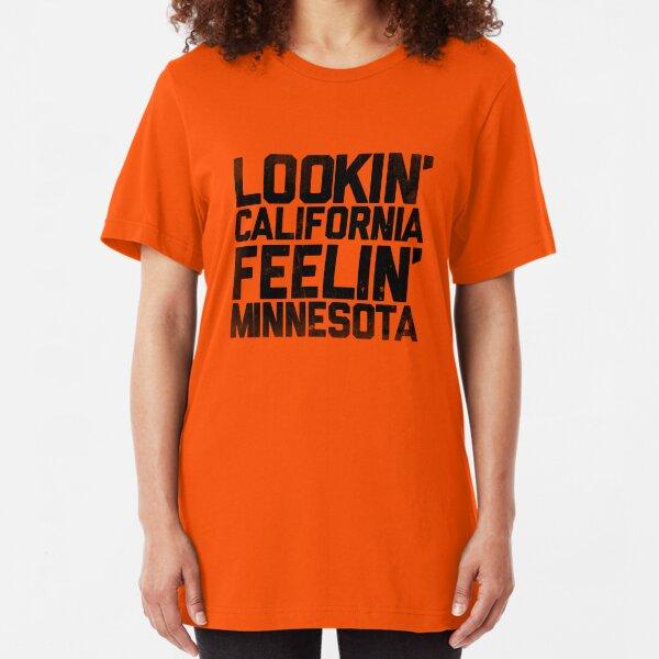 Lookin' California, Feelin' Minnesota (Black) Slim Fit T-Shirt