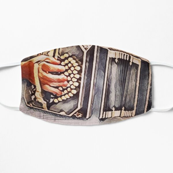 Bandoneon with Music Notes Mask