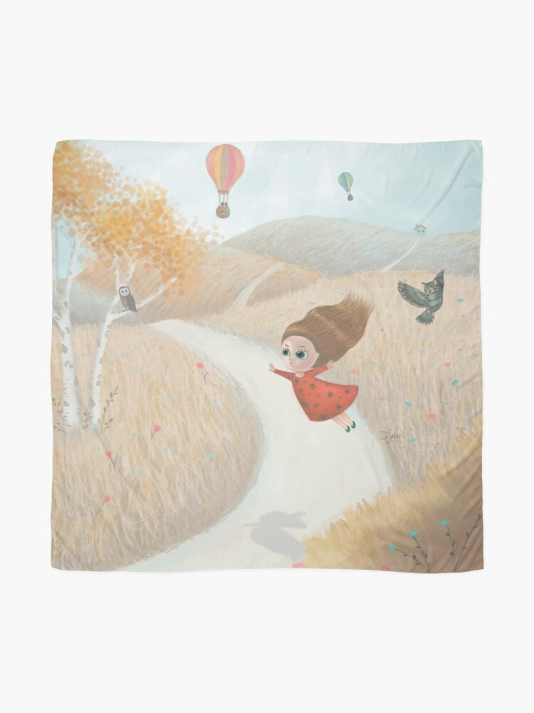 Alternate view of Little Girl Flying Away Scarf
