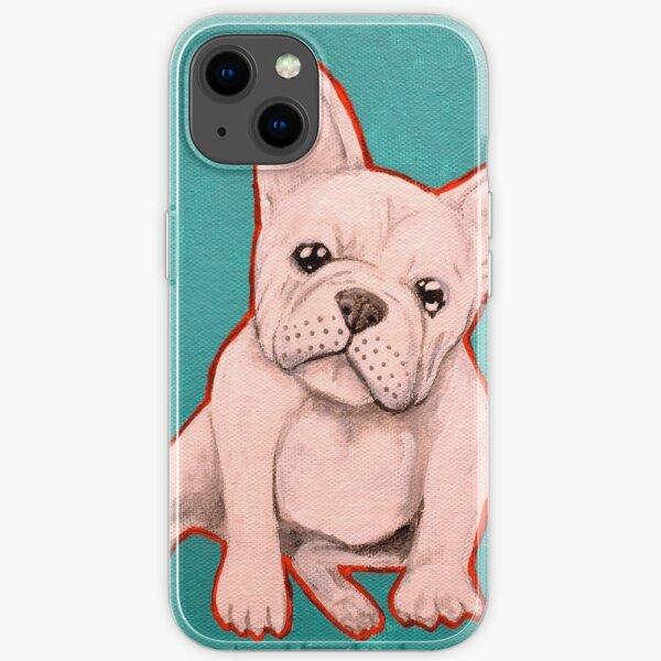 White French Bulldog iPhone Soft Case