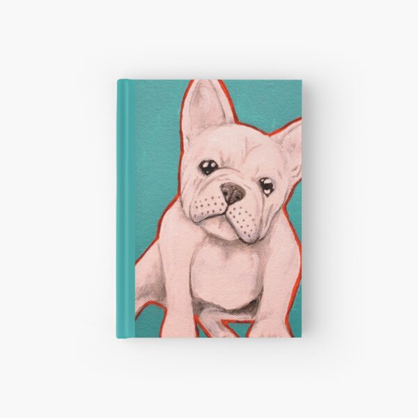 White French Bulldog Hardcover Journal