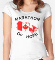 Marathon of Hope, 1980 Women's Fitted Scoop T-Shirt