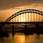 Sunset over the Tyne by Timeless Prints