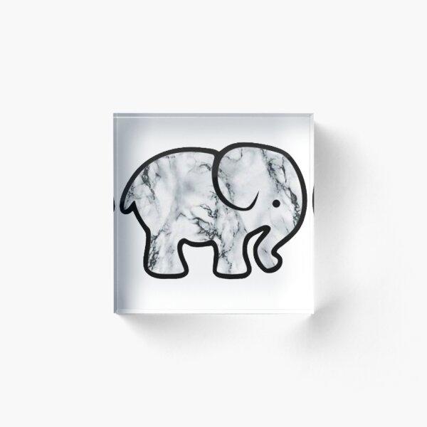 Marble Elephant Acrylic Block