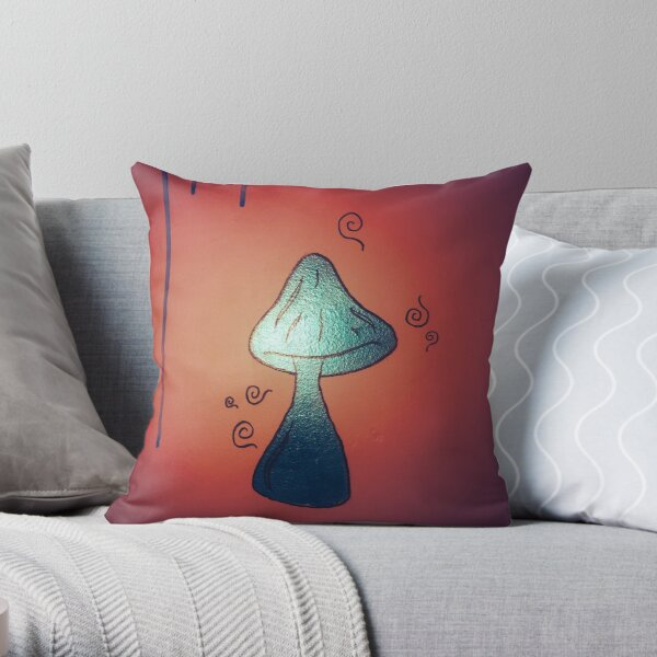 Poison Mushroom Throw Pillow