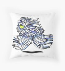 Puli / Komondor Playtime Throw Pillow