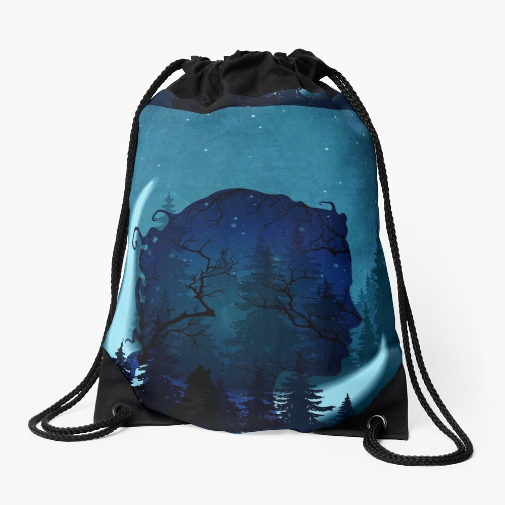 Lady of the Forest Drawstring Bag