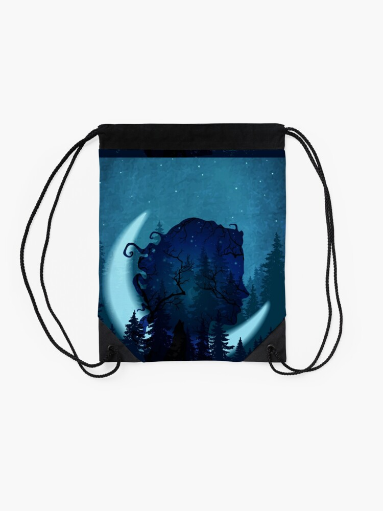 Alternate view of Lady of the Forest Drawstring Bag