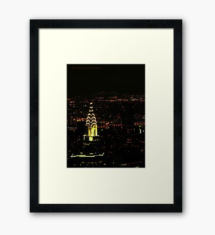 Chrysler Building (New York City, USA) Framed Print