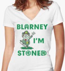 Irish Blarney I'm Stoned Women's Fitted V-Neck T-Shirt