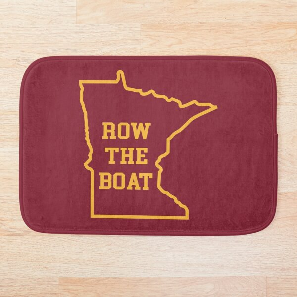 Row the Boat MN Outline Bath Mat