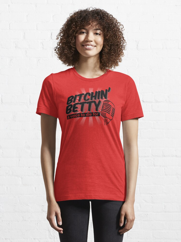 Alternate view of Funny Bitchin' Betty Aircraft Warning System Shirt Gear Essential T-Shirt