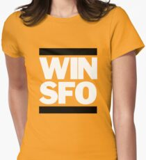 San Francisco Giants WIN SFO (adult size) Womens Fitted T-Shirt