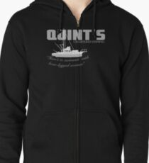 Quint's Chartered Fishing Zipped Hoodie