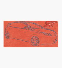 Focus ST Mk3 Drawing with ST Logo Photographic Print