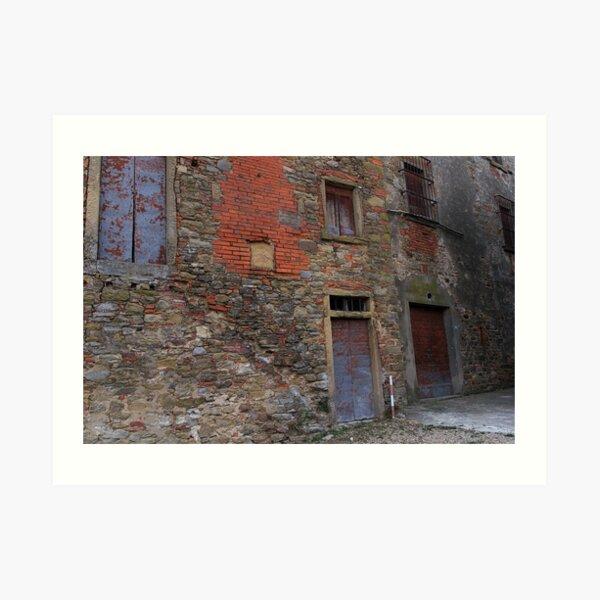 Castiglion Fibocchi - quirky wall Art Print