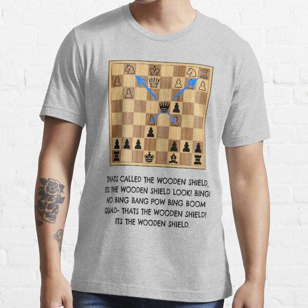 xQc Wooden Shield Chess Meme Essential T-Shirt