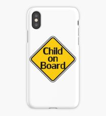 Child on board auto car bumper sticker Baby Shower Gift sign poster iPhone Case/Skin