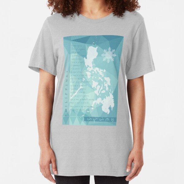 Philippines: Bayang Magiliw, Lupang Hinirang Slim Fit T-Shirt