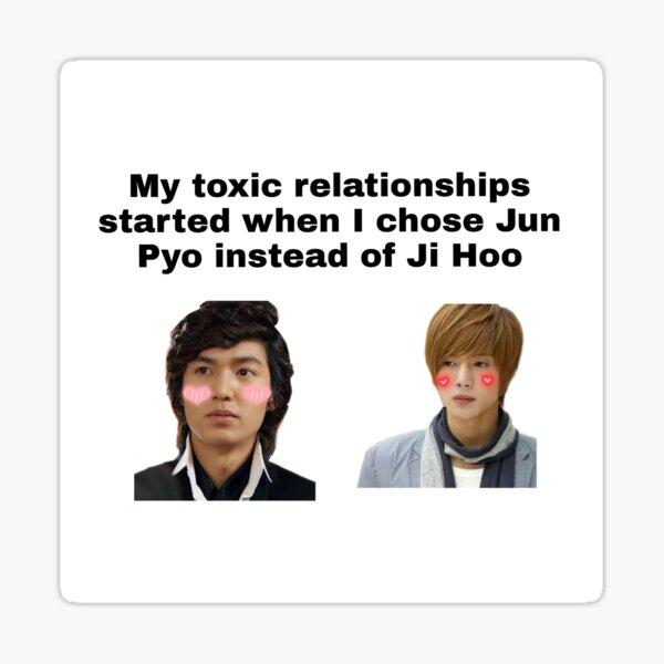 Mis relaciones toxicas comenzaron con Jun Pyo Pegatina