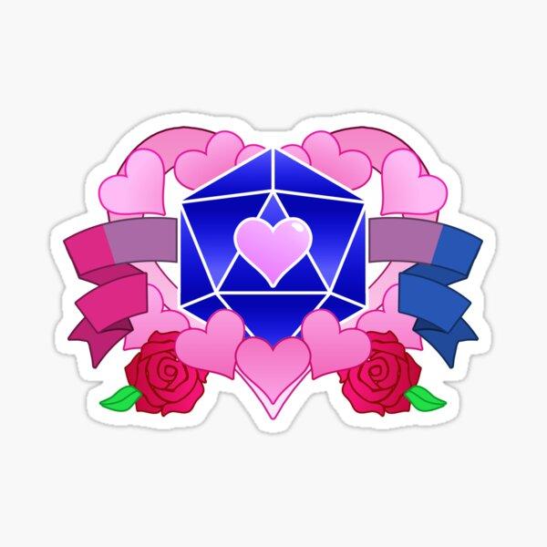 DiceHeart - Pride Month 2020 - BI BANNER, DARK BLUE DICE Sticker
