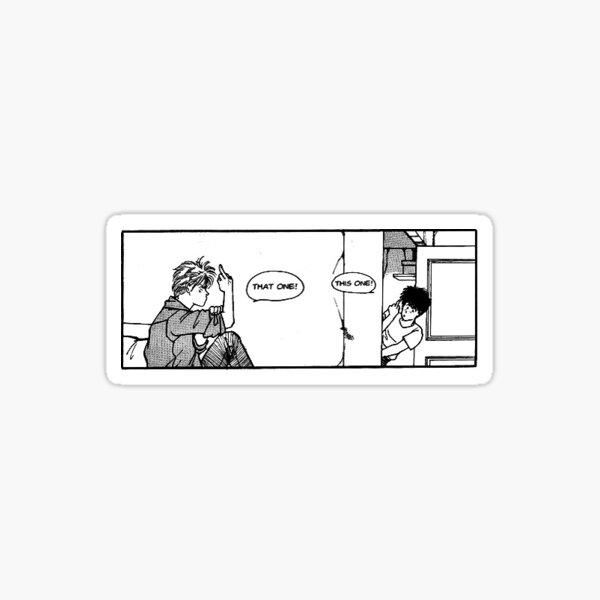 Ash & Eiji Giving the Bird Sticker