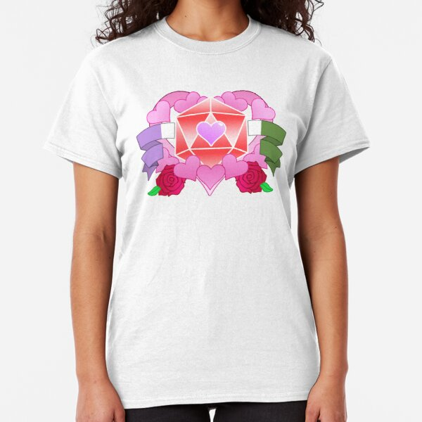 DiceHeart - Pride Month 2020 - GENDERQUEER BANNER, RED DICE Classic T-Shirt