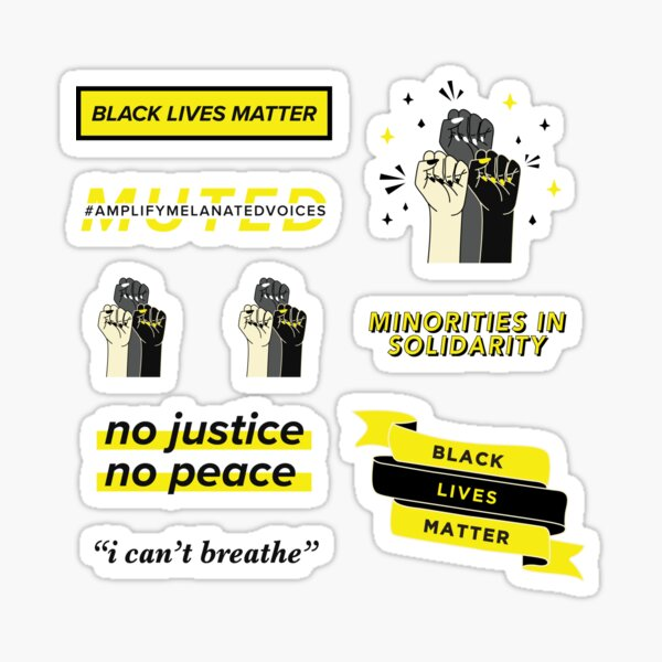 Black Lives Matter Sticker Pack - 100% of my profits will be donated to the George Floyd Memorial Fund Sticker