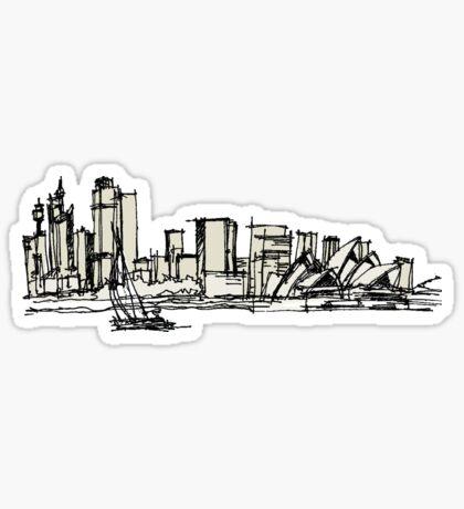Sydney Silhouette Sticker