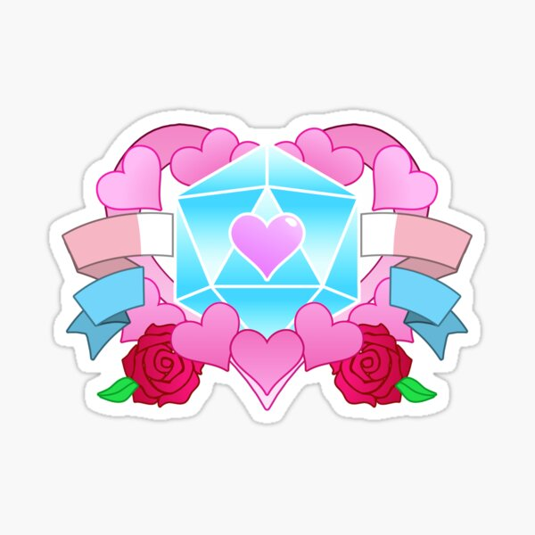 DiceHeart - Pride Month 2020 - TRANS BANNER, LIGHT BLUE DICE Sticker