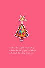 Christmas Card - Lolly Pink Wish Tree by © Karin Taylor