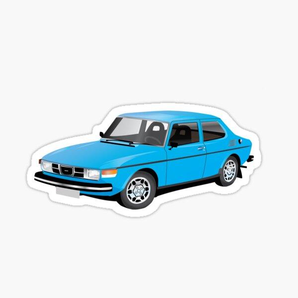 SAAB 99 blue Sticker