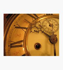 Clock face Photographic Print