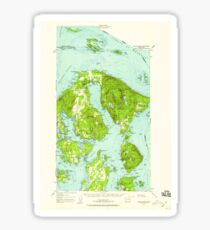 USGS Topo Map Washington State WA Orcas Island 242974 1957 62500 Sticker