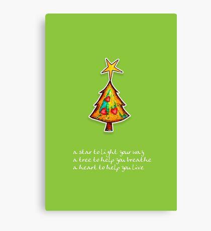 Christmas Card - Wild Lime Wish Tree Canvas Print