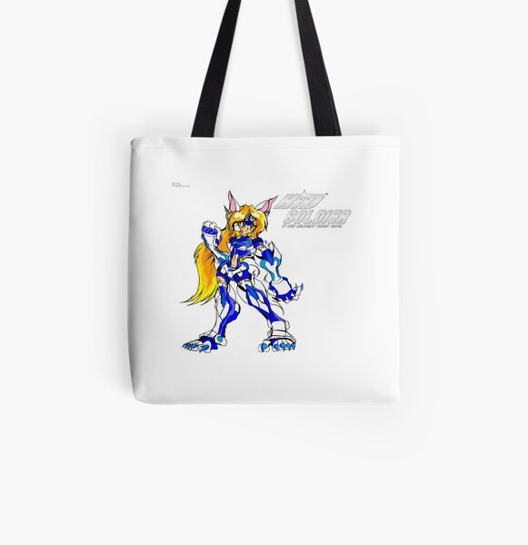 Wolf Valkerie (Kid Soldier) All Over Print Tote Bag