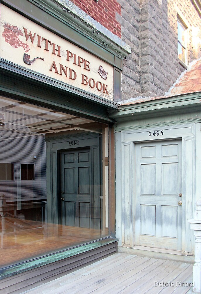 With Pipe and Book, Lake Placid New York by Debbie Pinard