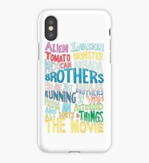 Rick and Morty Two Brothers Handlettered Quote iPhone Case/Skin