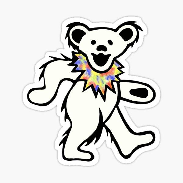 Grateful dead tie Dye bear Sticker