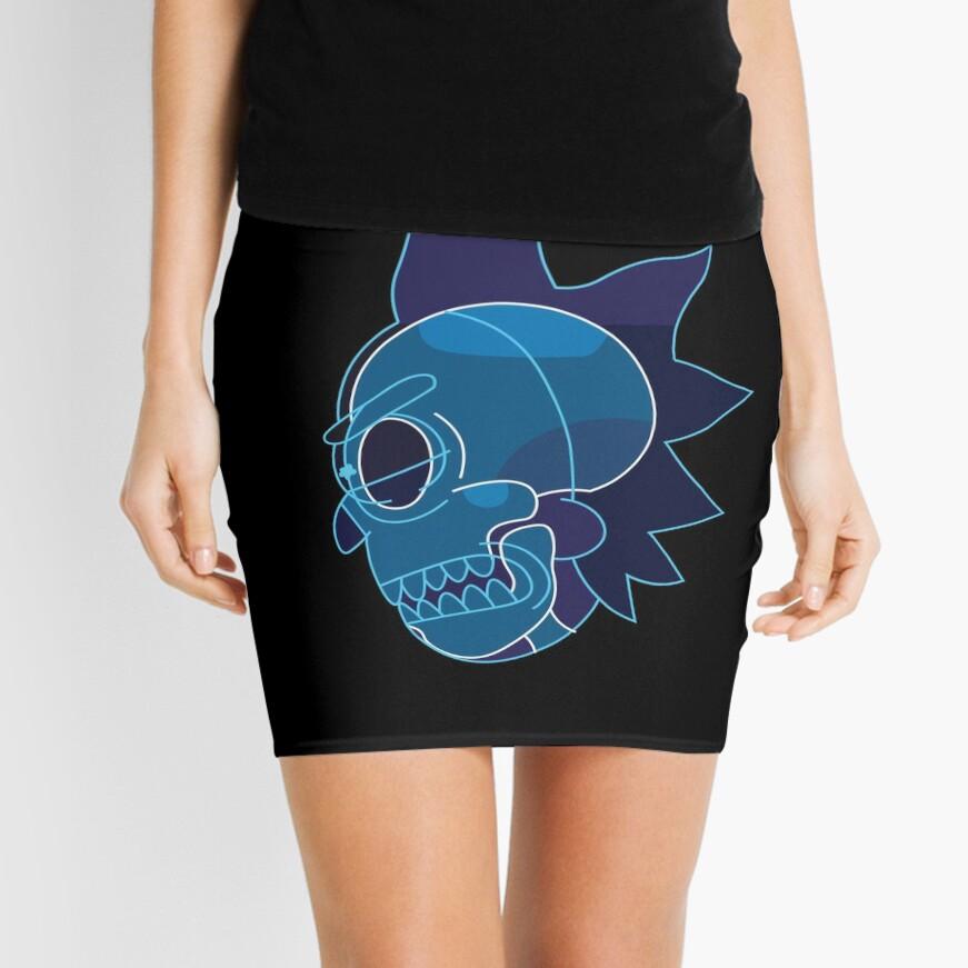 Rick Sanchez head X-Ray from Rick and Morty ™ Mini Skirt
