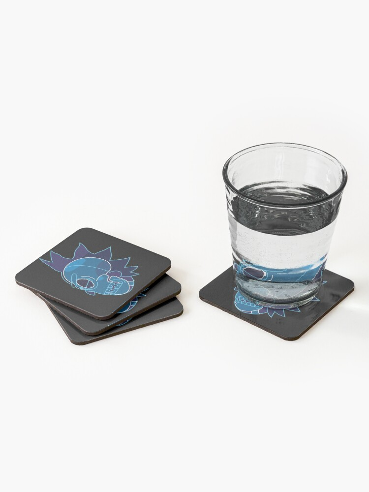 Alternate view of Rick Sanchez head X-Ray from Rick and Morty ™ Coasters (Set of 4)