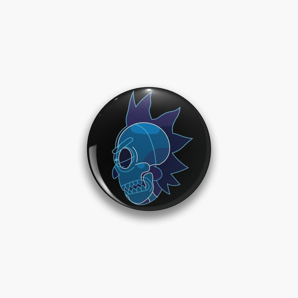 Rick Sanchez head X-Ray from Rick and Morty ™ Pin