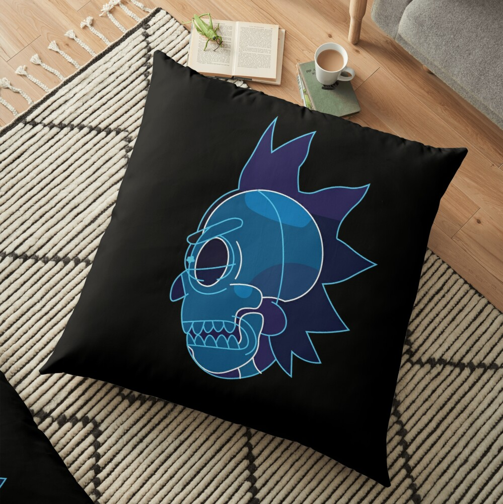 Rick Sanchez head X-Ray from Rick and Morty ™ Floor Pillow