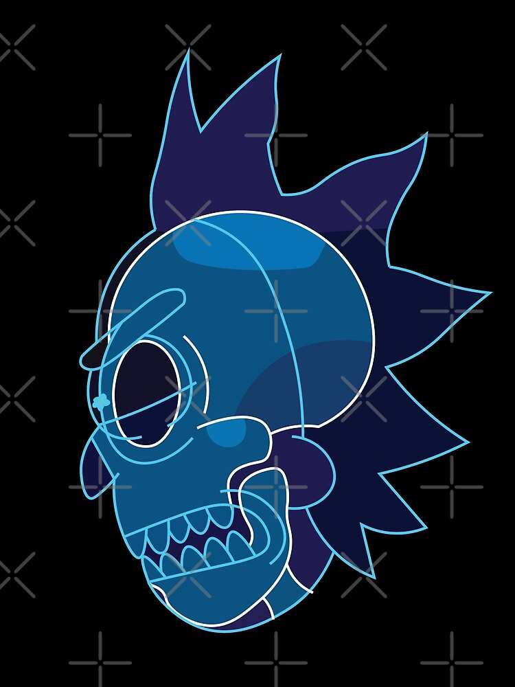 Rick Sanchez head X-Ray from Rick and Morty ™ by AmpersandCuster