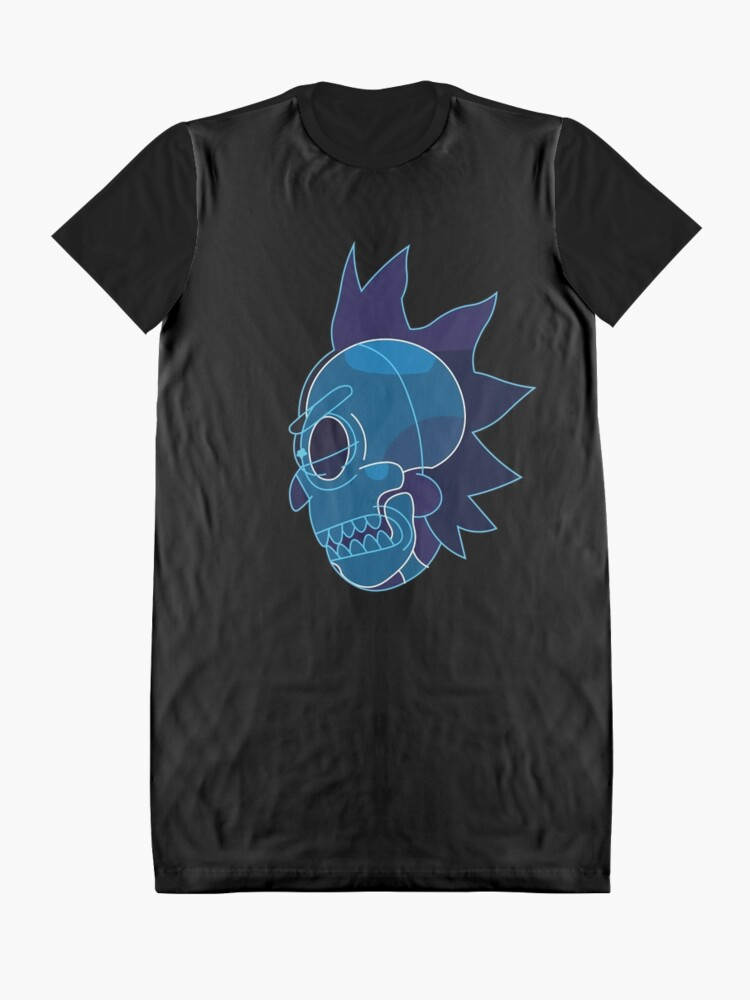 Alternate view of Rick Sanchez head X-Ray from Rick and Morty ™ Graphic T-Shirt Dress