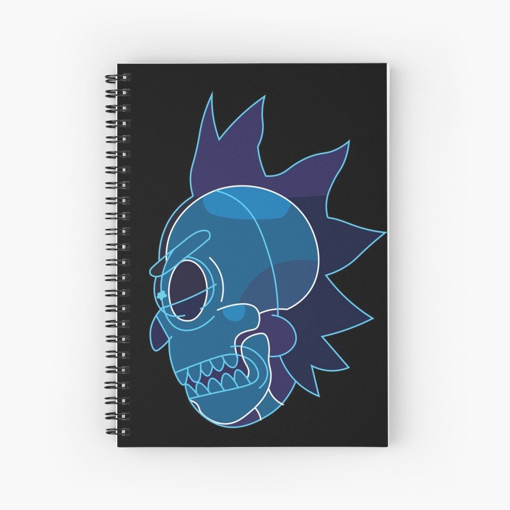 Rick Sanchez head X-Ray from Rick and Morty ™ Spiral Notebook
