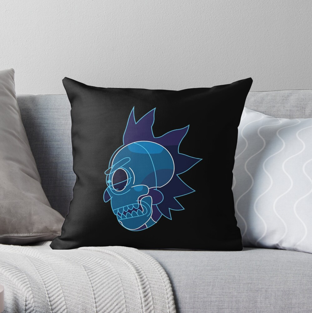 Rick Sanchez head X-Ray from Rick and Morty ™ Throw Pillow