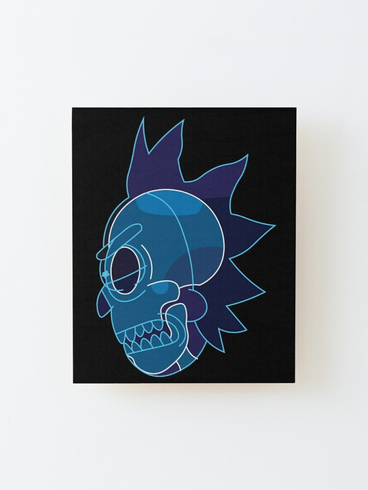 Alternate view of Rick Sanchez head X-Ray from Rick and Morty ™ Mounted Print