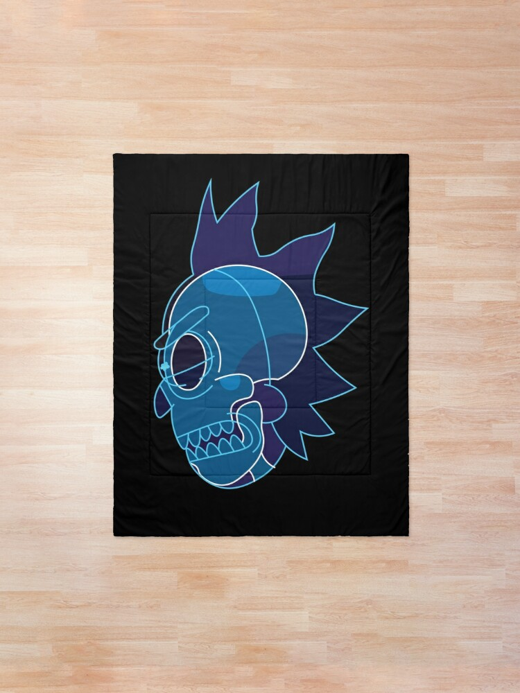 Alternate view of Rick Sanchez head X-Ray from Rick and Morty ™ Comforter